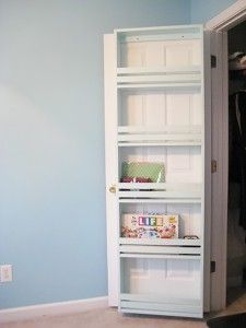 DIY Closet Organization Ideas for Messy Closets and Small Spaces. Organizing Hacks and Homemade Shelving And Storage Tips for Garage, Pantry, Bedroom., Clothes and Kitchen     Closet Door Shelf     http://diyjoy.com/diy-closet-organization-ideas