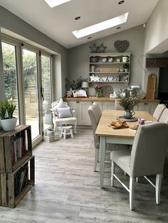 Our finished extension. Small Conservatory, Kitchen Extensions, Roof Window, Houses, Create, Interior, Table, Inspiration, Furniture