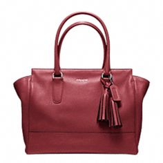 legacy leather medium candace carryall  $398  color: black cherry
