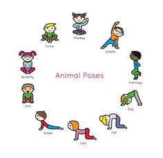 Yoga For Kids, Exercise For Kids, Kids Yoga Poses, Meditation For Children, Stretches For Kids, Kids Workout, Gross Motor Activities, Preschool Activities, Physical Activities