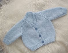 Hand Knitted Baby Boys Cardigan £10.00