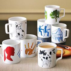 buy mugs at dollar store or something, buy dishwasher-safe paint,  provide craft to do and sell.
