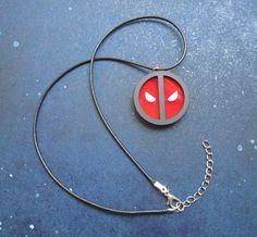 Deadpool Symbol Logo Emblem Face Pendant Necklace by FoxyFunk
