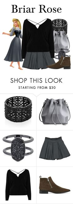 """""""Briar Rose"""" by megan-vanwinkle ❤ liked on Polyvore featuring Kenneth Jay Lane, Kendra Scott, Miu Miu, River Island, Sigerson Morrison and polyvoreeditorial"""