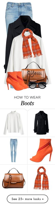 """""""~  Bright Boots  ~"""" by pretty-fashion-designs on Polyvore featuring AG Adriano Goldschmied, Lands' End, Christian Dior, Burberry and Ace"""
