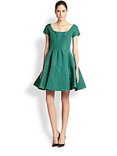 Zac Posen - Silk Fit-And-Flare Dress