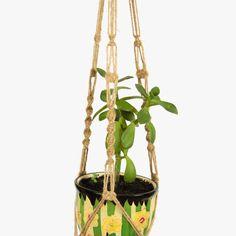 NATURAL JUTE 28 inches Macrame  Plant  Hanger - Window Decor - Holidays Gift Idea - Hanging Planter - 3mm - Basket Plant Holder by DanceOfTheSoul on Etsy