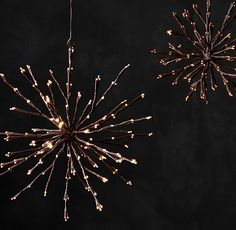 Starlit Sphere Pendants - Bark  by Restoration Hardware. Gorgeous but pricey