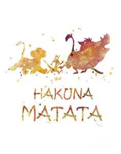 Lion King Hakuna Matata Print Watercolor Art The Lion King Poster Disney Printable Disney Gift Lion Lion King Poster, Lion King Art, The Lion King, Art Roi Lion, Lion Art, Watercolor Lion, Watercolor Disney, Tattoo Watercolor, Art Disney