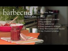 Tangy, tasty and completely Free, this sauce goes great with beef burgers, succu… - Bbq İdeas Slimming World Bbq Sauce, Slimming World Hunters Chicken, Slimming World Salads, Vegan Slimming World, Make Bbq Sauce, Barbecue Sauce Recipes, Beef Burgers, Slimming World Recipes, Skinny Recipes