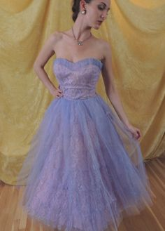 PInk Lace Vintage Prom Dress with Lavender tulle upper layers.   Ruched sweet heart neckline.  Tea length.  Lace Bolero Jacket.