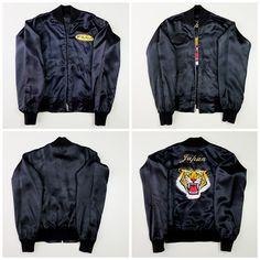 Vintage Japanese Zen Black Roaring Tiger The Mackshow ザ・マックショウ Rockabilly Band Group Embroidered Sukajan Souvenir Jacket -…