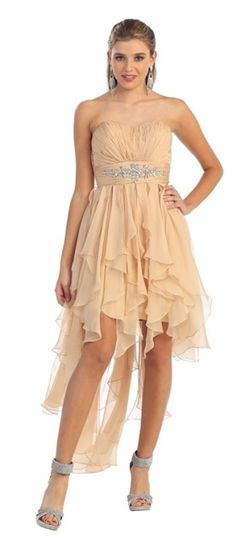 This is a fun and flirty hi lo dress with ruffle bottom. #HighLowDress #HiLoDress www.marlasfashions.com