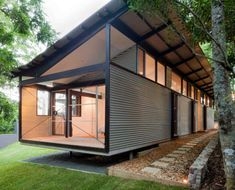 Container House Australia Architecture – Shipping Container US Container Buildings, Container Architecture, Architecture Durable, Architecture Design, Residential Architecture, Maison Eichler, Container Home Designs, Design Exterior, Shipping Container Homes