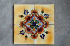 12 Mexican Talavera Tiles handmade Hand painted by MexicanTiles, $49.50