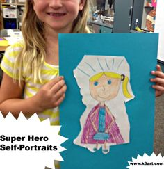 grade Archives - Page 3 of 10 - K - 6 ArtK – 6 Art 2nd Grade Art, Second Grade, Superhero Classroom, Classroom Ideas, Drawing Projects, Art Projects, What Is A Hero, Class Room, School Themes