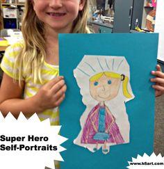 super hero self portraits