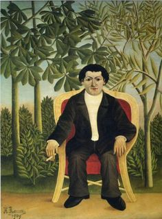 Portrait of Joseph Brummer  - Henri Rousseau, 1909