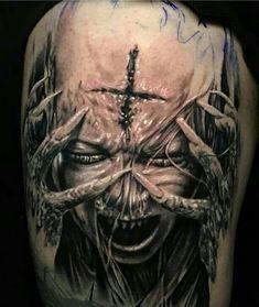Evil Tattoos, Creepy Tattoos, Badass Tattoos, Skull Tattoos, Body Art Tattoos, Hand Tattoos, Sleeve Tattoos, Mädchen Tattoo, Clown Tattoo