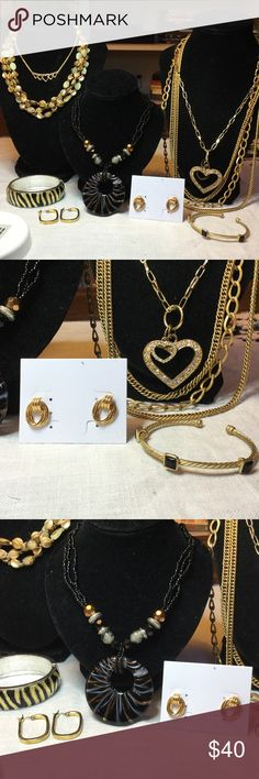 Selling this Vintage to now Goldtone rhinestone jewelry bundle on Poshmark! My username is: kennjenn2010. #shopmycloset #poshmark #fashion #shopping #style #forsale #Premier Designs #Jewelry