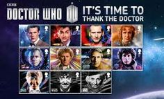 This is really cool because it's the Doctors from 1-12 on postcards or stamps