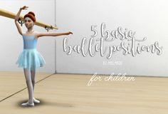 5 basic ballet poses, this time for children