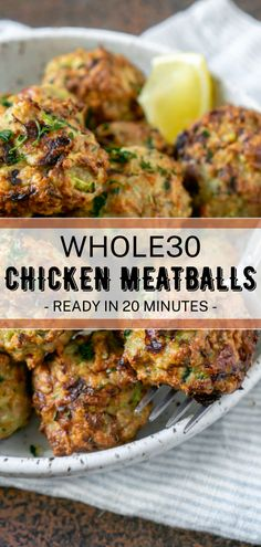 Tender, juicy meatballs that are Whole30 compliant and super filling! #meatballs #whole30recipes #whole30meatballs #whole30 #meatballrecipes #chickenrecipes #dinnerrecipes #sundaydinner Chicken And Beef Recipe, Best Chicken Recipes, Veggie Recipes, Beef Recipes, Vegetarian Recipes, Cooking Recipes, Whole30 Recipes, Clean Recipes, Low Carb Recipes