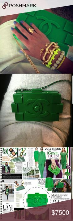 Spotted while shopping on Poshmark: 💋Chanel Green Lego💋! #poshmark #fashion #shopping #style #CHANEL #Handbags
