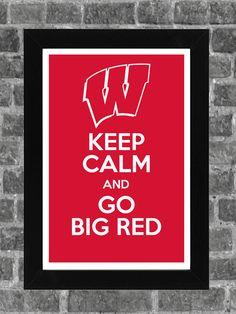 Keep Calm Wisconsin Badgers NCAA Print Art 11x17 by PortlandInkery, $14.99
