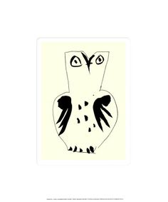 Chouette (Silkscreen print) by Pablo Picasso - art print from King & McGaw Art And Illustration, Illustrations, Picasso Sketches, Picasso Drawing, Kunst Picasso, Picasso Art, Picasso Prints, Georges Braque, Owl Art