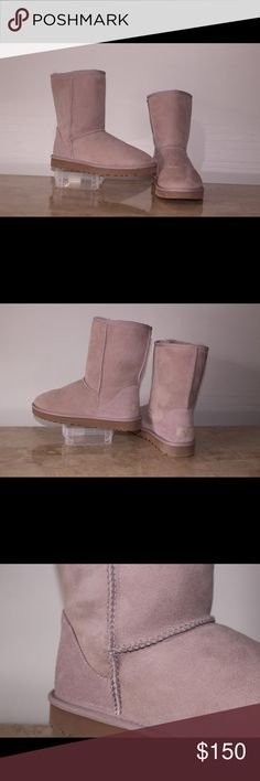 Ugg Australia classic II short Authentic dusk short UGG boots, comes with box never been worn. Can be worn straight up or cuffed, suede on the outside and sheepskin inside make this classic boot comfy. US size 10 UGG Shoes Winter & Rain Boots