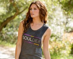 Workout tanks and sweatshirts with sweet, inspiring messages