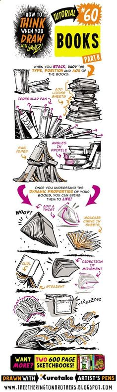 See below for todays tutorial, which looks at how to THINK When you draw BOOKS, great for adding a lived-in feel to your interiors, or jus...