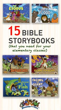 Bible storybooks for elementary kids | Illustrated Bible stories spanning the Old and New Testaments | Includes a Bible quiz and Did You Know? fun fact boxes throughout each story. Available on Amazon Bible Story Book, Bible Stories For Kids, Bible For Kids, Bible Resources, Bible Activities, Preschool Activities, Kids Learning, Learning Arabic, Learning Tools