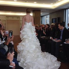 A spectacular train. Gown by Isabelle Armstrong