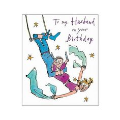 Cheerful trapeze couple – to my husband – quentin blake b...