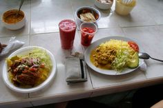 Typical lunch at the mercado or market