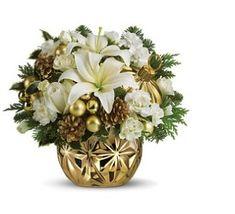 Google Image Result for http://flowerpicturegallery.com/d/11104-1/White%2Band%2Bgold%2BChristmas%2Bcenterpiece.JPG