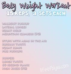 Baby nap workouts: bodyweight workout via http://lifeofblyss.com