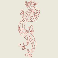 Birds of Paradise Linework 3 Cutwork, Ocean Life, Word Art, Blackwork, Tribal Tattoos, Machine Embroidery Designs, Quilt Blocks, Free Design, Applique