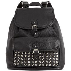 VIV Studded Backpack- Black Target Australia ($29) ❤ liked on Polyvore featuring bags, backpacks, accessories, mochilas, bolsa, daypack bag, knapsack bag, weekender bag, backpack pouch and pouch bag