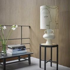 Tendance décoration art abstrait pour un style atelier d'artiste : lampe dessin visage - Arty home decor : face illustration lighting // Hellø Blogzine blog deco & lifestyle www.hello-hello.fr #art