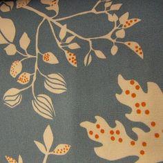 Ikea fabric in gray and orange