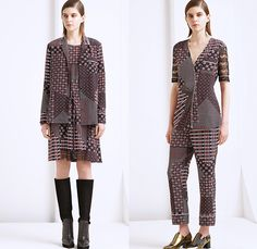 Thakoon Addition 2015-2016 Fall Autumn Winter Womens Lookbook Presentation - New York Fashion Week NYFW - Denim Jeans Plaid Tartan Chunky Knit Sweater Jumper Fringes Windowpane Check Lace Wrap Trucker Jacket Poncho Cape Cloak Miniskirt Outerwear Coat Pants Trousers Blouse Long Shirt Patchwork Stripes Ornamental Print Boots Cardigan Embroidery Tie Up Flowers Florals Animal Spots Wool Furry