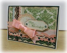 Lovely Damask Birthday Card