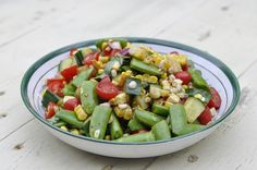 Corn, Tomato and Snap Pea Salad