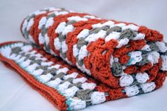 The fox and friends crochet baby blanket granny by ValkinThreads2, $68.00