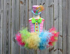 Custom Mad Hatter Madd tutu dress costume Halloween by RainbowsLNG