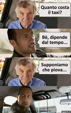 Funny Phrases, Funny Quotes, Funny Chat, Italian Memes, Taxi, Serious Quotes, Happy Photos, Funny Scenes, Funny Times