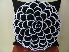 Decorative Pillow Pattern SOPHIA FLOWER Felt by SewYouCanToo, $5.00